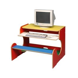 Children's Dual Bench Computer Workstation