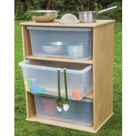Leave Me Outdoors School Storage Cupboard with Clear Trays