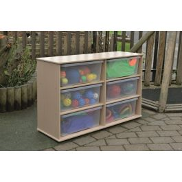 Leave Me Outdoors Large Storage 6 Tray Unit with Clear Trays