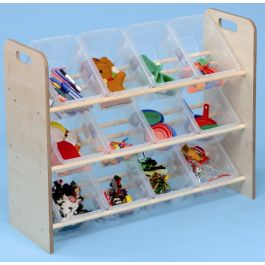 Single Sided Classroom Tidy with Clear Trays