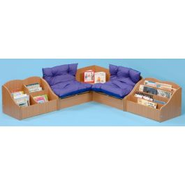 Infant Library Reading Corner Seating and Storage Set