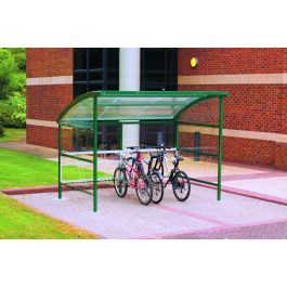 Premier Cycle Shelter with Clear Perspex Sides