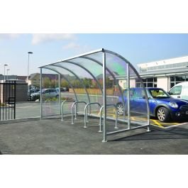 Kenilworth Galvanised Cycle Shelter