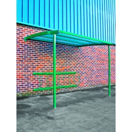 Wall Mounted Cycle Shelter for 8 Bikes