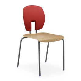 Hille SE Curve Chair Polished Wood Seat
