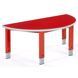 Metalliform Start Right Height Adjustable Semi Circular Table