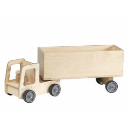 Giant Wooden Nursery Play Vehicles - Lorry with Box Trailer