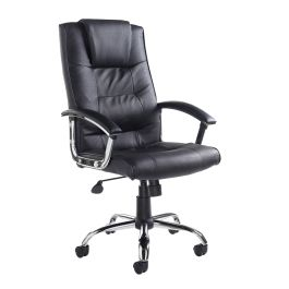 Somerset High Back Leather Faced Managers Chair