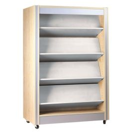 Spectrum Double Sided Library Bookcase with Reversible Shelves