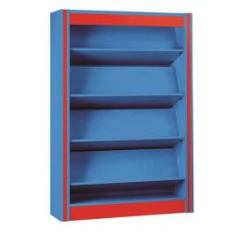 Spectrum Single Sided Library Bookcase with Reversible Shelves