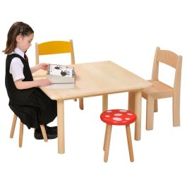 Natural Beech Square Classroom Table