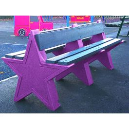 Star Recycle Plastic Outdoor 8 Seater Bench