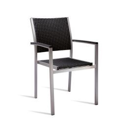 Sun Superior Quality Outdoor Wicker Weave Arm Chair  - Black