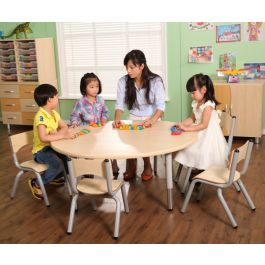 Victoria Round Height Adjustable Classroom Table