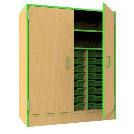 Edge Classroom Storage Cupboard with Trays