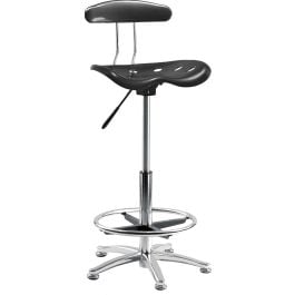 Tek Height Adjustable Draughting Chair - Black