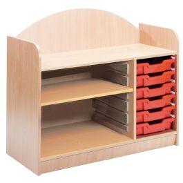 Stretton 6 tray/1 Shelf Storage Unit
