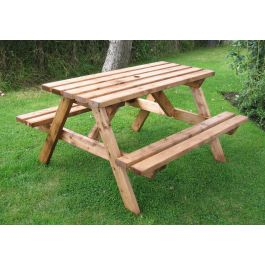 Fenton Quality Wooden Pub Picnic Bench - 6 Seater