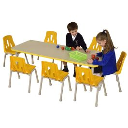 Thrifty 8 Seater Height Adjustable Rectangle Classroom Table