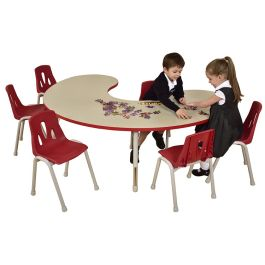 Thrifty 6 Seater Height Adjustable Group Classroom Table