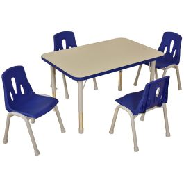 Thrifty 4 Seat Rectangular Height Adjustable Classroom Table