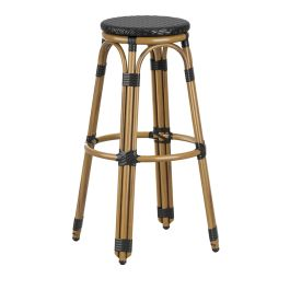 Time Stackable Bar Stool with Aluminium Bamboo Look Frame