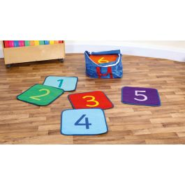 Rainbow Numbered 1-24 Indoor or Outdoor Mat Squares with FREE Holdall
