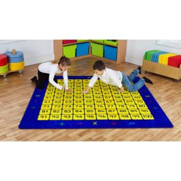 100 Square Counting Grid Classroom Carpet
