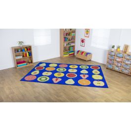Fruit Themed Rectangular Placement Classroom Carpet