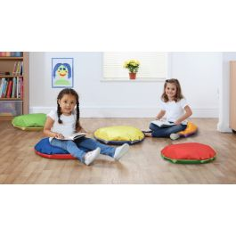 Story Floor Cushions - Set of 10 Bright Colours