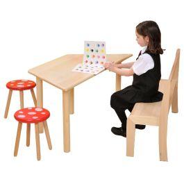 Natural Beechwood Trapezoidal Classroom Table