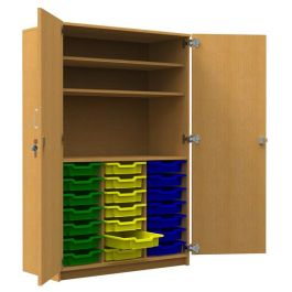21 Shallow Tray Tall Storage Unit with Shelves without Doors