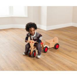 Toddler Wooden Trike and Trailer Bundle Deal