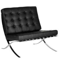 Leather Faced Single Seat Sofa
