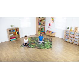 Natural World Woodland and Minibeasts Double Sided Classroom Carpet