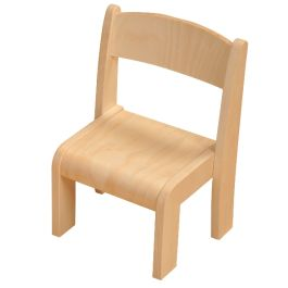 Toddler Wooden Classroom Chair without Arms - Pack of 2