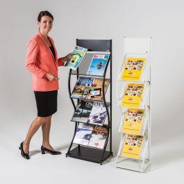 Wave Wider Freestanding Leaflet Dispenser