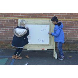 Children's Wooden Outdoor Freestanding Whiteboard