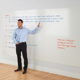 WriteOn Non-Magnetic Whiteboard wall