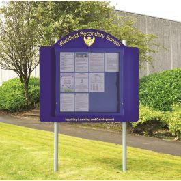 WeatherShield Contour Freestanding Outdoor School Sign