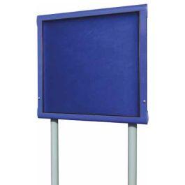 WeatherShield Lockable Freestanding Outdoor Showcase Noticeboard