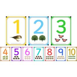 A4 Outdoor Learning Boards, Photo Numbers 1 to 10