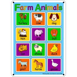 Outdoor Learning Board - Illustrated Farm Animals