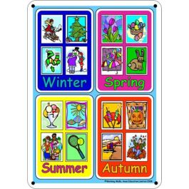 Outdoor Learning Board - Illustrated Seasons