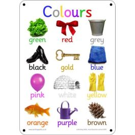 Outdoor Learning Board - Photo Colours