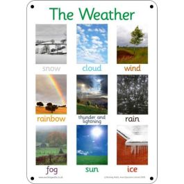 Outdoor Learning Board - Photo Weather