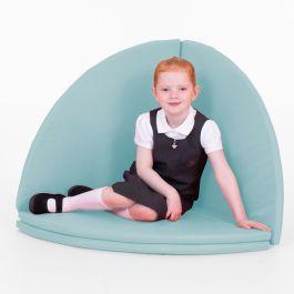Folding Children's Floor Mat - Indoor and Outdoor - Pack of 4 (Cool Blue)
