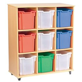 Triple Column 9 Jumbo Tray Storage Unit