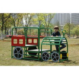 Outdoor Children's Playground Climbing Frame - Train