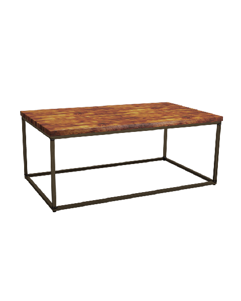 Byron Rustic Pine Rectangular Coffee Table